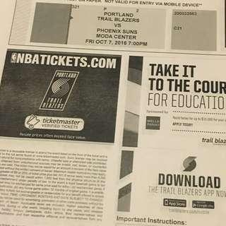 Blazers VS Phoenix Tickets
