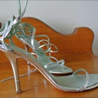 Giuseppe Zanotti silver stilettos