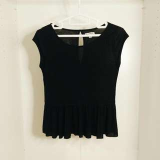 AEO Black Peplum Top
