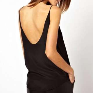 Silky Low Back Top