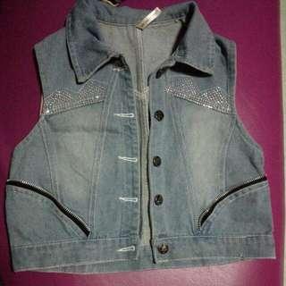 Pre Loved Denim Vest For Girls 9-10years Old