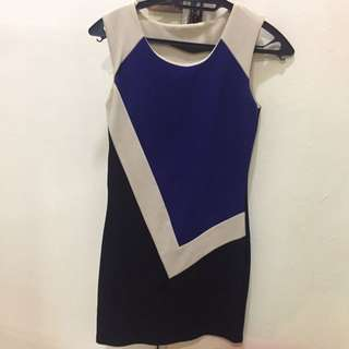 (preloved) Color Block Cocktail Dress