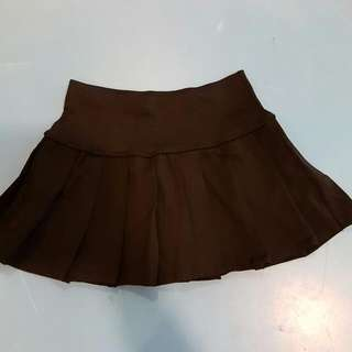 Sexy Pleated Mini Skirt With Safety Pants