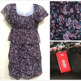 ‼️[SALE] PL Layered Floral Dress by EDC (Esprit)