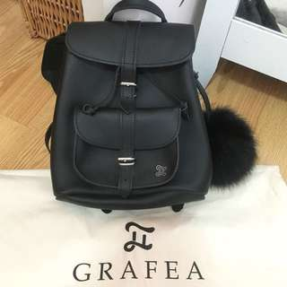 Grafea *Real Leather* Black Backpack