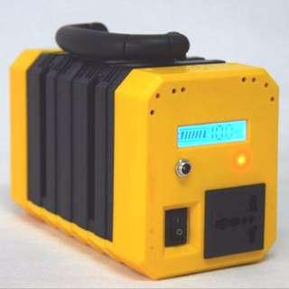 120 Watt Portable AC Socket Power Supply Power Bank Powerbank Charger (1 Universal Power Socket, 2 USB output and LED lamp)
