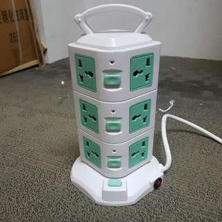 Vertical Sockets Stand Extension Power Port with USB 11 Socket