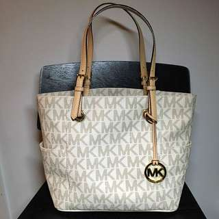 Michael Kors Jet Set Logo Tote - Vanilla Color