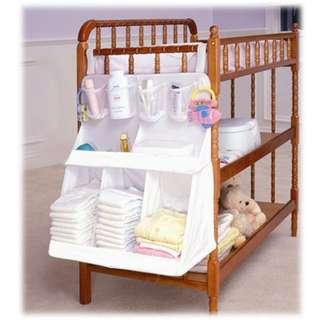 嬰兒床立體床掛床頭收納袋掛袋