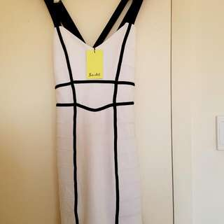 MAKE AN OFFER BARDOT/BOUND PANEL DRESS/SIZE 10/BNWT