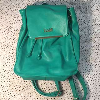 Kate Hill Teal Leather Backpack