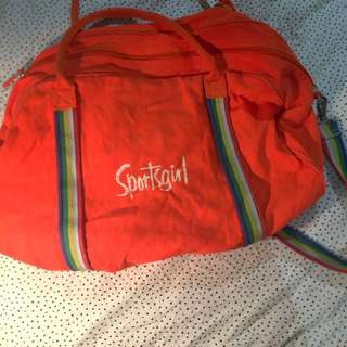 Sportsgirl Orange Duffel Bag