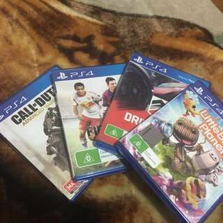 4 Game Bundle For PS4