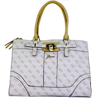 Guess Greyson Status Carryall Bag (Logo Cream)