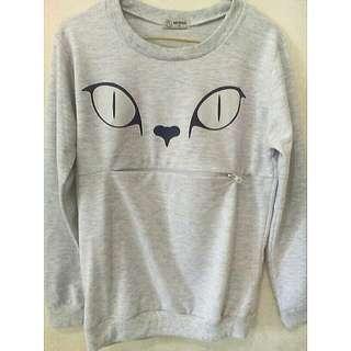 Nevada Grey Cat Sweater