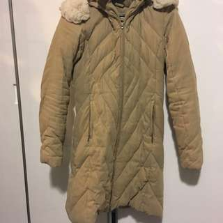 R & Co Beige Winter Coat