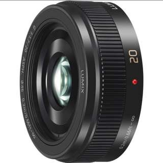 Panasonic LUMIX G 20mm F/1.7 Mark ii ASPH lens (BLACK)