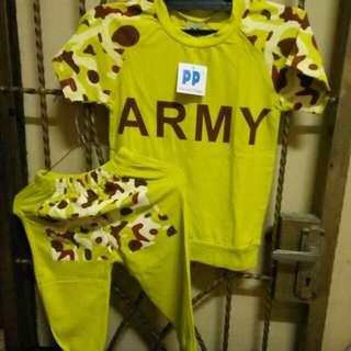 Baju Anak Army Premium parcel kualitas Barang Dijamin Bagus Dan Nyaman Dipakai Anak