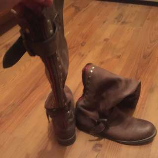Soda Genuine Leather Boots Size 7.5