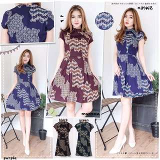 Batik Murah / Batik Lovers / Batik Wanita / Dress Batik / Batik Kerja / Batik Casual / Sabrina Top / Sabrina Dress