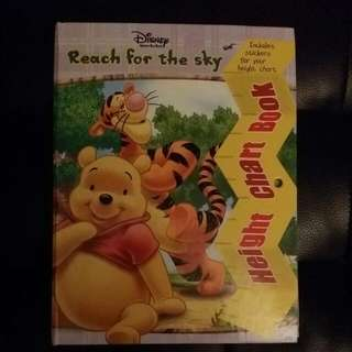 Disney Winnie The POOh Story & Height Chart Book
