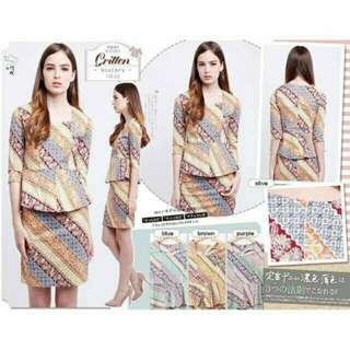 Batik Modern / Dress Batik / Atasan Batik / Batik Kerja
