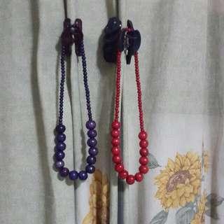 Pink & Blue Necklaces