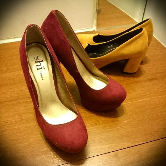 (450自取500含運) 美國購入酒紅高跟鞋