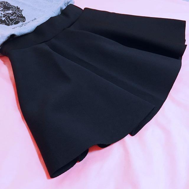 全新✨太空棉黑色短裙
