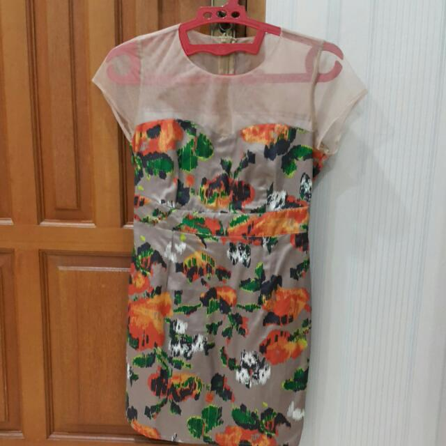 Abstract Cocktail Dress