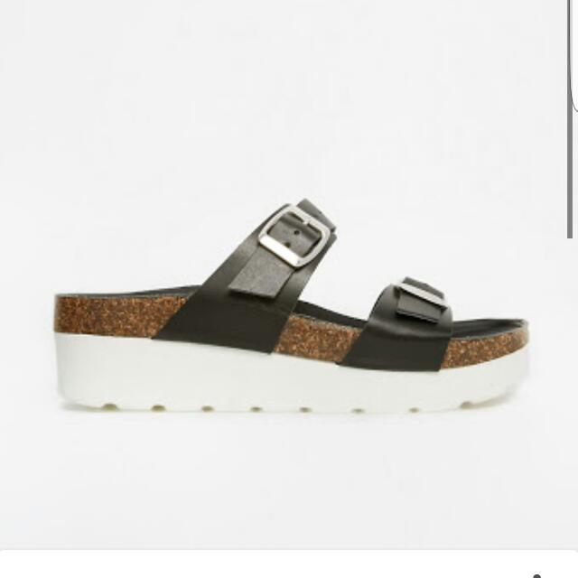 Asos Leather Platform Sliders