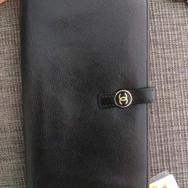 Authentic Black Chanel Calfskin Wallet