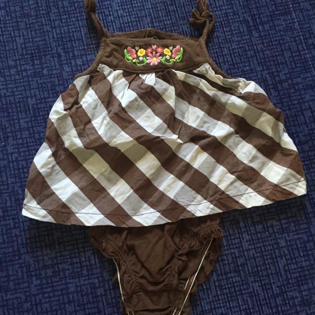 Baby Girl Romper Dress or Onesie 3-6m