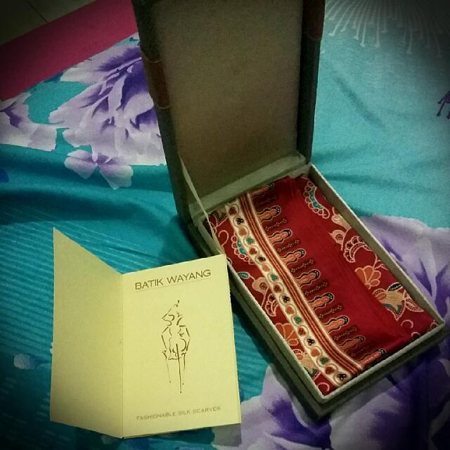 Batik Wayang Fashionable Silk Scarves
