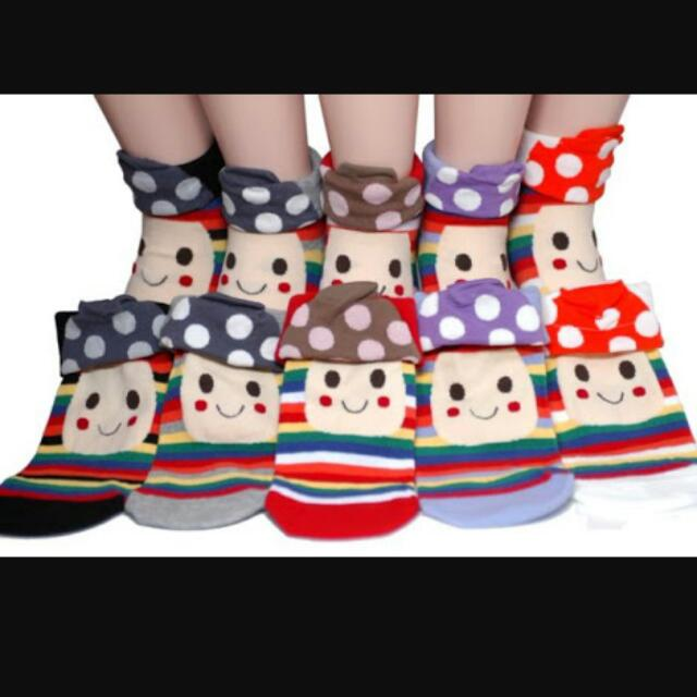 Brand New Mushroom Socks(5 Pairs)