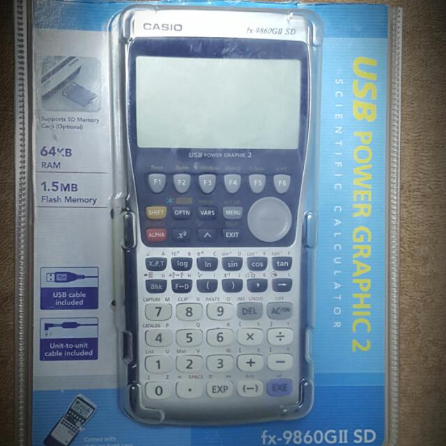 Casio Scientific Graphic Calculator FX 9860 GII SD Electronics Others On Carousell