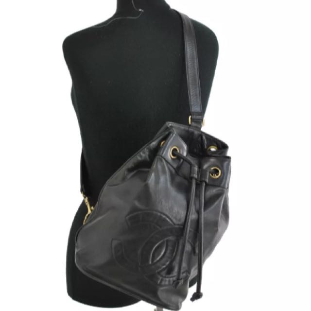 d7d6baff346bca ( Sold ) CHANEL Timeless CC Logo Backpack In Black CAVIAR Leather & GHW.  Comes With A Matching Large Pouch. Very Good Vintage Condition !, Luxury,  ...