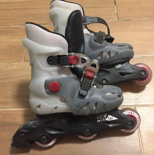 Children's Rollerblades Size 10 & Helmet