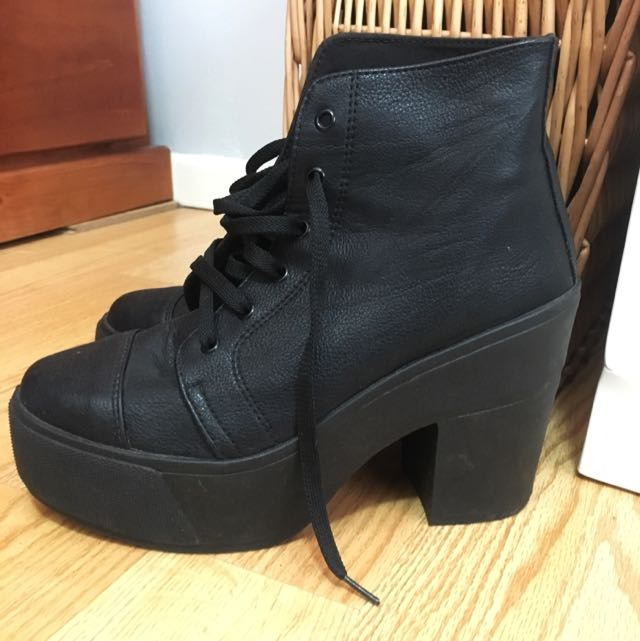 Black Lace Up Boots ASOS