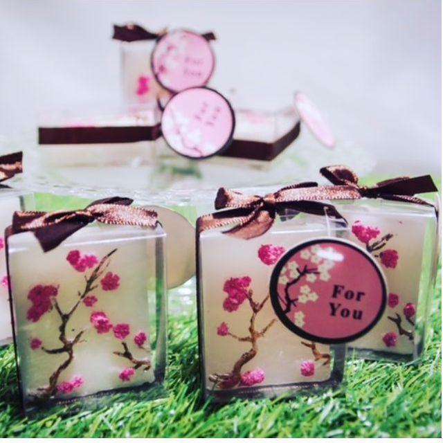 7bbb16738c4 CLEARANCE SALE - Mini Cherry Blossom Pillar Candles