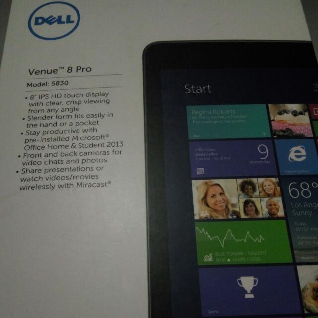 Dell Venue 8 Pro Windows 10 Tablet