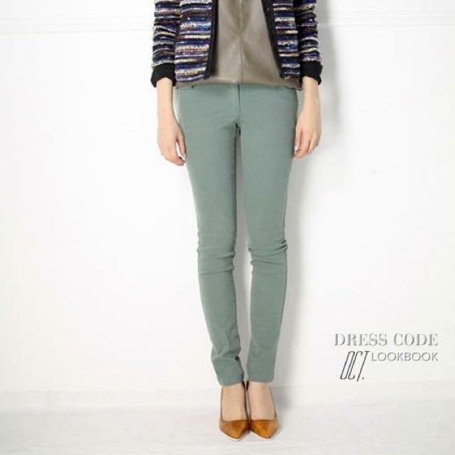 Dress Code 粉綠色窄管褲