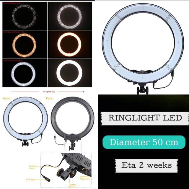PROMO! READY STOCK! DUAL LIGHT STUDIO RING LIGHT 50 CM ( Ringlight)