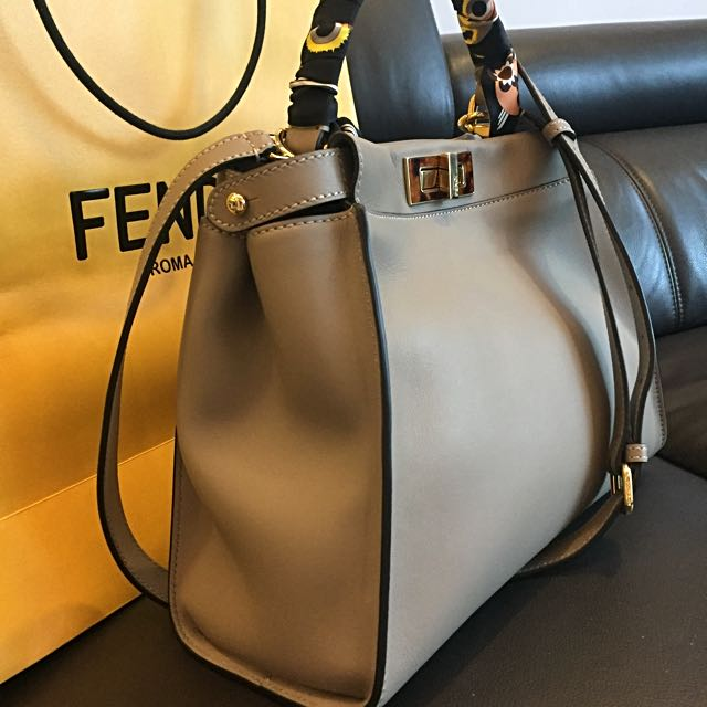 cb1263aa1e5c Fendi Peekaboo Regular Dove Grey