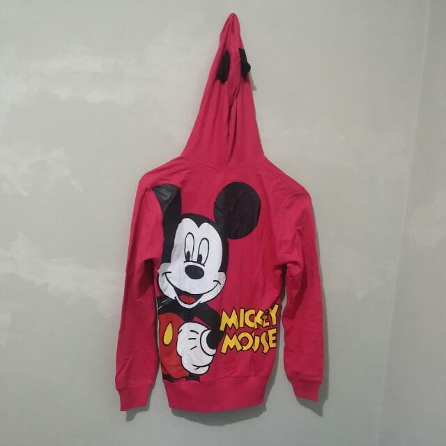 Jaket Pink Mickey Mouse
