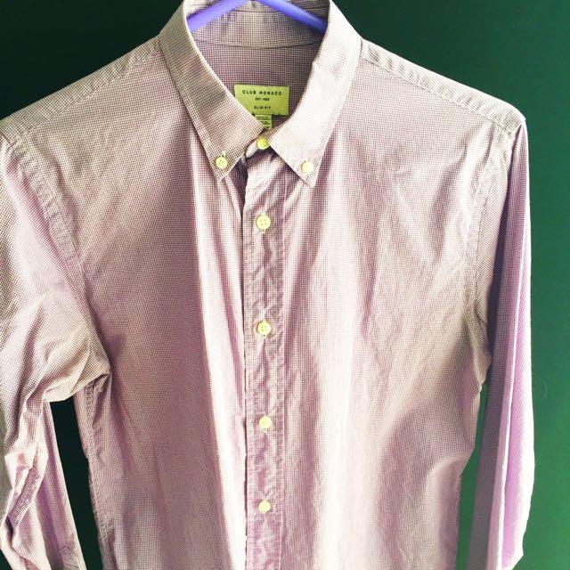 Men's (Small) Slim Fit Club Monaco Shirt (100% Cotton)