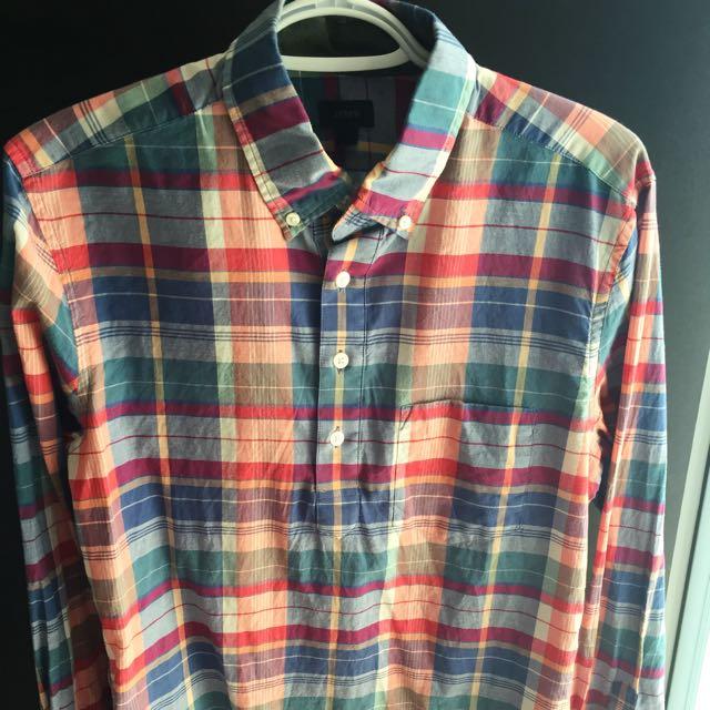 Men's (Small) Slim Fit J.crew Shirt (100% Cotton)