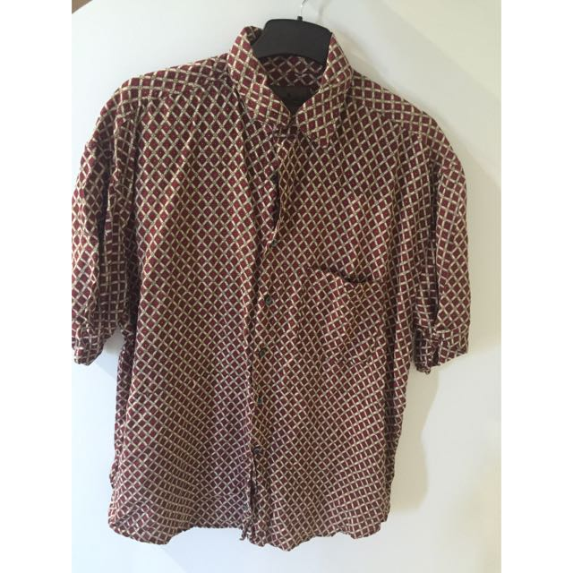 Over Sized Patterned Button Up