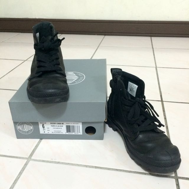 Palladium 皮革 黑 短靴