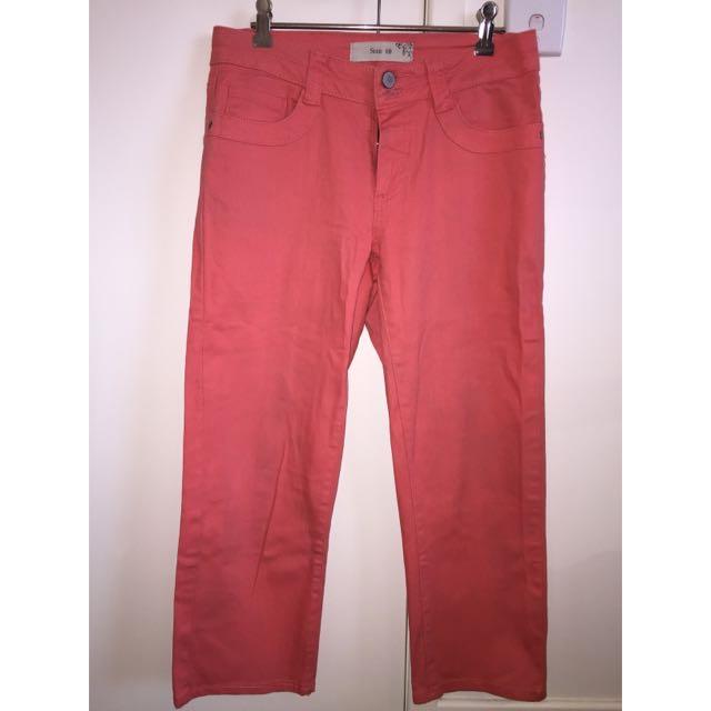 Peach 3/4 Jeans